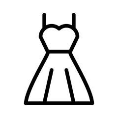 Wedding Dress Love Valentines Day Engagement vector icon