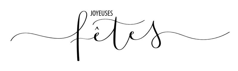 """Bannière """"JOYEUSES FETES"""" lettrage à la main"""