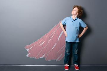 Boy as a super hero