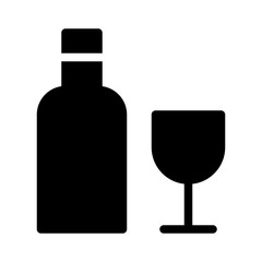Wine Set Food Restaurant Bar Diner Drink vector icon
