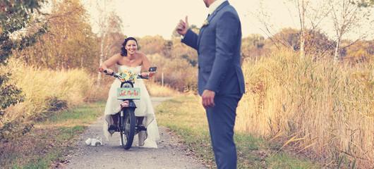lustiges Brautpaar