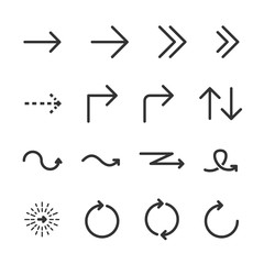 Vector image set arrow icons.
