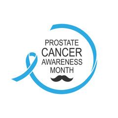 Vector image of prostate cancer awareness ribbon.Poster design.