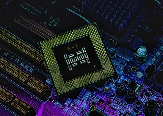 cpu pins and circuit mother board
