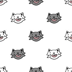 Vector seamless pattern with white