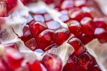 Pomegranate seeds close up