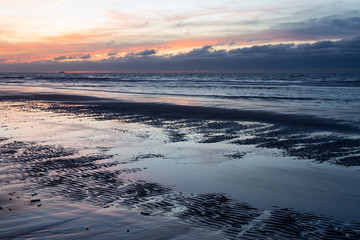 Last light on the coast in Westland
