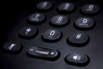 closeup of mobile phone keypad