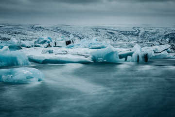 Printed kitchen splashbacks Glaciers Gletschersee