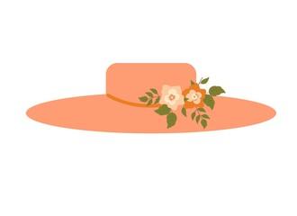 Elegant pink ladies flower women hat