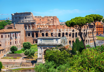 Colosseum and Arc of Constantine