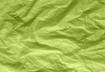 green parchment crumpled colored paper texture