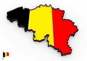 Belgium high detailed 3D map