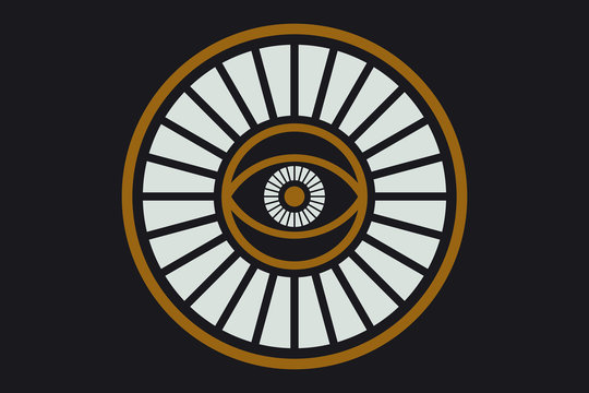 New World Order. Eye of Providence.Conspiracy theory. Masonic and esoteric, religion, spirituality, occultism symbol.All Seeing icon illustration. The symbol of the Illuminati eye.