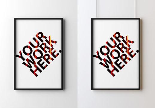 Black Frame Poster Mockup