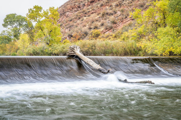 water diversion dam on Poudre River