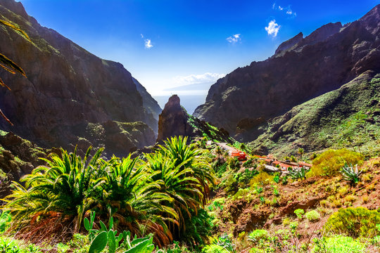 Masca, Tenerife, Spain, Canary Islands: Small mountain village Masca on the island of Tenerife in Canary Islands, the Macizo de Teno mountains