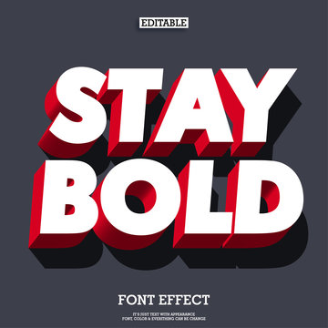 bold and strong 3d red font effect