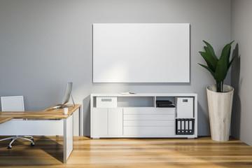 Light gray ceo office interior, poster