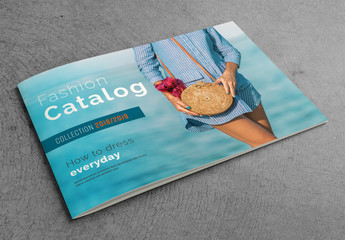 Catalog Layout with Blue Accents