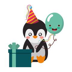 cute penguin gift balloon kawaii birthday
