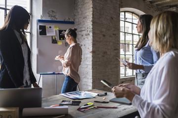Businesswomen meeting in a modern studio