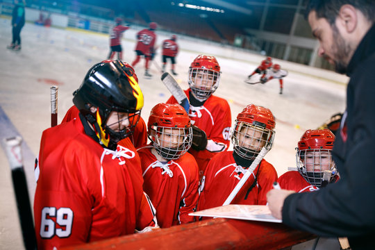Formation strategy plan in hockey matches.