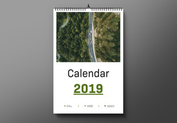 2019 Wall Calendar Layout