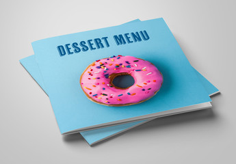 Dessert Menu Layout with Colorful Accents