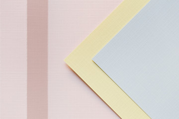 Pastel paper and shapes