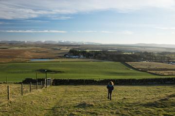 Descending from a walk in the Pentlands