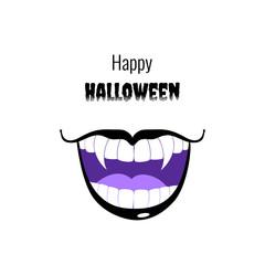 Vampire halloween grin