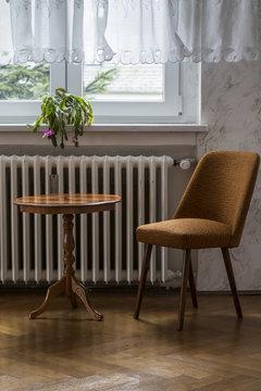 Retro furniture in a living room corner