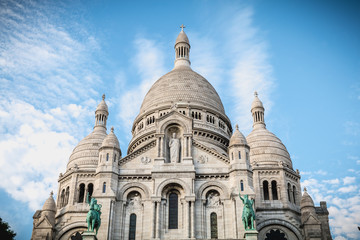 architectural detail of the Basilica of the Sacred Heart of Paris