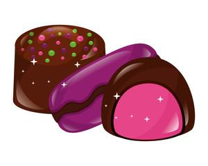 sweet chocolate bonbon macarons stuffed candy