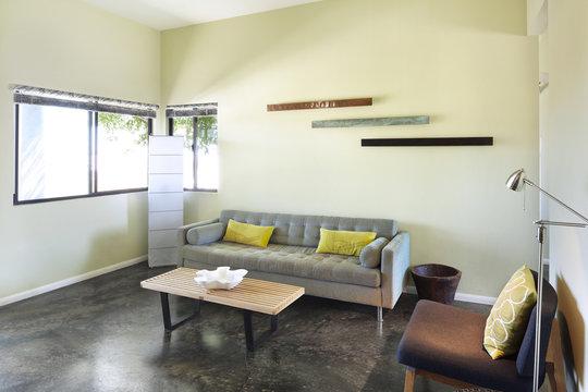 Living room in modern design home
