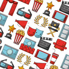 cinema movie glasses chair trophy background