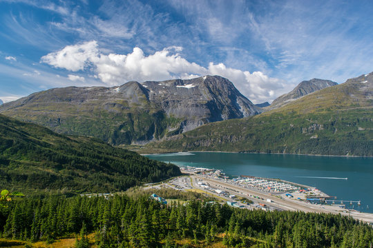 View of the Whittier and surrounding mountains, Alaska
