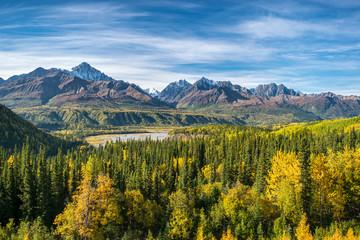 Foto auf AluDibond Gebirge View of autumn Wrangell st. elias national park, Alaska, USA