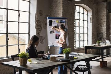Businesswomen at work in a modern studio
