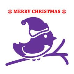 Merry Christmas design. Bird