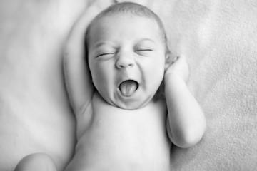 Happy Newborn Baby Boy with a Big Smile
