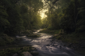 Australian landscape scene with water