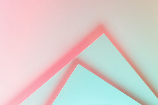 Colorful lights and paper shapes