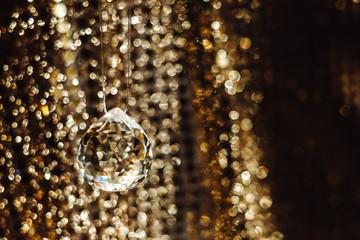 Golden texture and cristal ball