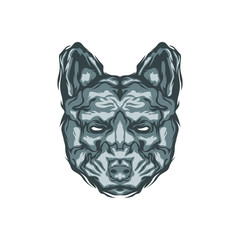 Abstract animal head logo in vector