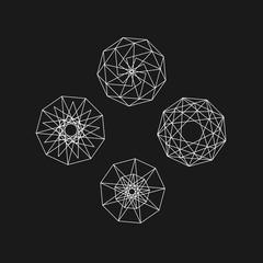 circle sacred geometry series vector