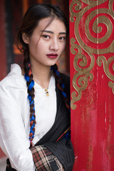 Tibetan girl in Yushu