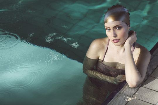 Portrait of Woman Swimmer