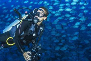 Scuba among Fishes